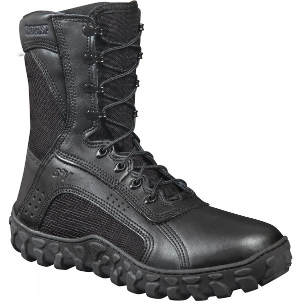 S2V Vented Black Military Boots (Non-Waterproof)