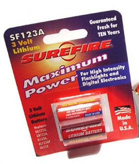 SureFire 123A Lithium Batteries 2pk